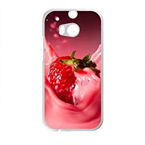 Personalized Creative Cell Phone Case For HTC M8,sweet stawberry milk