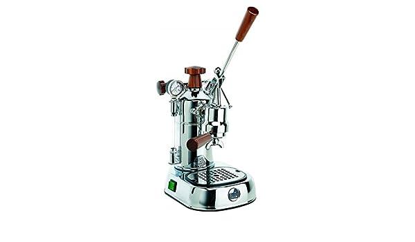 La Pavoni PLH Professional Lusso máquina de café espresso manual asas de madera Depósito 1.6 litros Potencia 1000 W: Amazon.es: Hogar