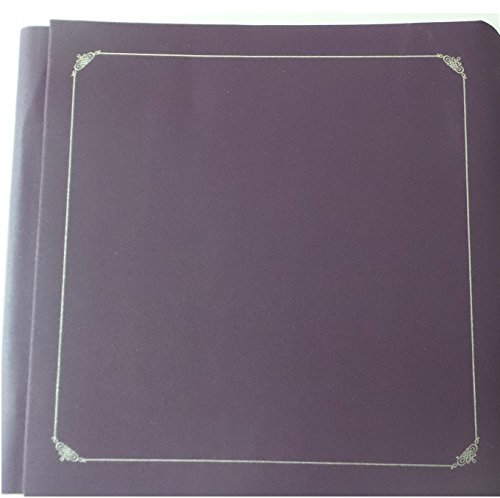 Creative Memories 12 X 12 Premiere Purple Album with Silver Foil Includes Pages by Creative Memories