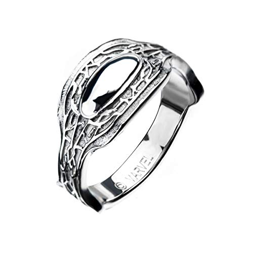 Marvel Black Panther Stainless Steel Ring, Size 10