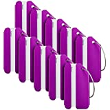 Travelambo Luggage Tags & Bag Tags Stainless Steel Aluminum Various Colors (purple 10 pcs set)