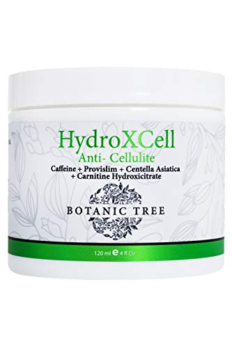 HydroXCell Anti Cellulite Cream Botanic Tree-Decrease Cellulite in 92% of Customers After 2 Months-Proven Results-100% Organic Extract-Cellulite Cream Remover w/Caffeine
