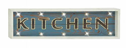 picture of Benzara 70991 Kitchen Wood Led Wall Sign