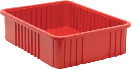 Quantum Storage Systems DG93060RD Dividable Grid Container 22-1/2-Inch Long by 17-1/2-Inch Wide by 6-Inch High, Red, 3-Pack from Quantum Storage Systems