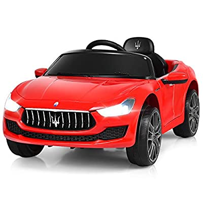 Costzon Ride on Car, Licensed Maserati Gbili 12V Rechargeable Battery Powered Electric Car w/ 2 Motors, Parental Remote Control & Manual Modes, LED Lights, MP3 from Costzon