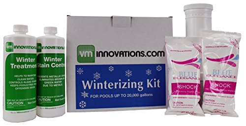 VMInnovations Swimming Pool Winterizing Chemical Treatment Closing Kit - Up to 20,000 Gallons