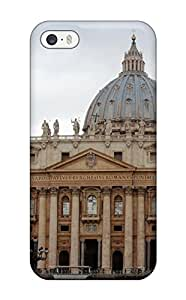 CQtmYgm3013fTSpM Tpu Phone Case With Fashionable Look For Iphone 5/5s - The Vatican And The Saint Peters Basilica View