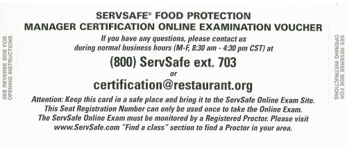 ServSafe Online Exam Voucher (stand-alone) (6th Edition) 6th (sixth) edition (authors) National Restaurant Associatio, . (2008) published by Prentice Hall [Paperback] pdf