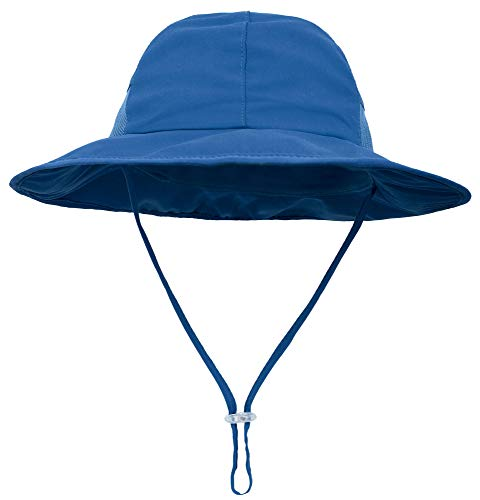 SimpliKids Baby Boy Sun Hat UPF 50+ Sun Protection Wide Brim Beach Hat Royal