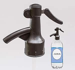 Sodafall soda dispenser for seltzer water/club soda/sparkling water and soda pops (Grey)