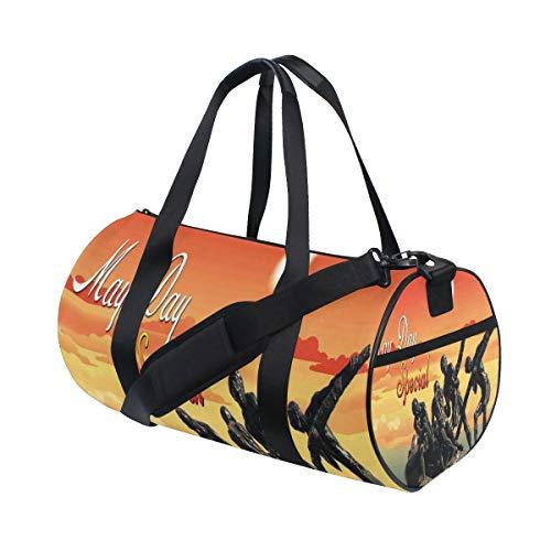 Duffel Bag Fantastic Labor Day Wallpaper Womens Garment Gym Tote Bag Best Sports Bag for Men