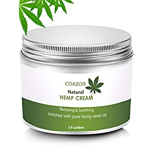 Hemp Cream | Face Cream | Anti-Aging | Anti-Wrinkle & Fine Lines Hyaluronic Acid Vitamin E Relives Tension Stress | Firming Face & Neck Moisturizer-50ml