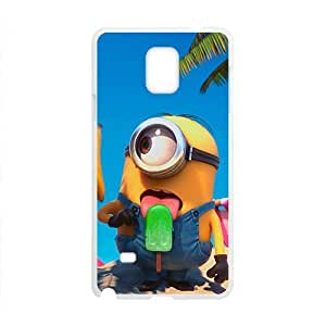 Cute naughty horarios de minions Cell Phone Case for Samsung Galaxy Note4 WANGJING JINDA