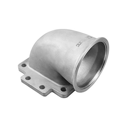 CXRacing 3.5 Vband T6 Turbo Stainless Steel 90 Degree Elbow Adapter Flange 304 SS Cast