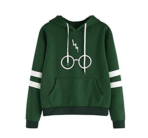 manga larga Green M ish/_foob sudadera con capucha para ni/ñas impresi/ón de invierno