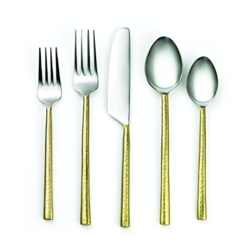 Cambridge Silversmiths 20 Piece Indira Priya Flatware Set, ()
