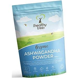 Polvere di Ashwagandha Cruda Bio di TheHealthyTree Company - Vegan, Erba 100% Naturale Ayurvedica Adattogena per la Mente, Corpo e Spirito - Radice di Ashwagandha Pura (250g) 5 spesavip