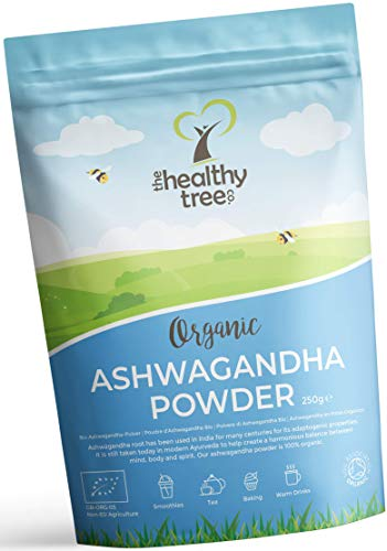 Polvere di Ashwagandha Cruda Bio di TheHealthyTree Company - Vegan, Erba 100% Naturale Ayurvedica Adattogena per la… 1 spesavip