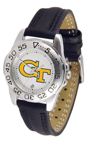 Georgia Tech Yellowjackets NCAA ''Sport'' Ladies Watch (Leather Band)