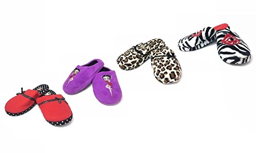 Slippers Skid Gifts Plush Non for Leopard Cozy Betty Great Pinup Women's Ultra Scuffs Boop Soft znnqwvfSU