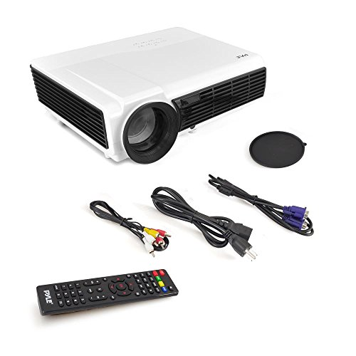 PyleHome - LCD Projector - Silver/White