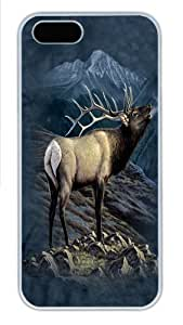 iPhone 5S Cases & Covers -Exalted Ruler Elk Polycarbonate Hard Case Back Cover for iPhone 5/5S White