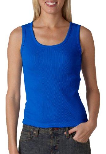 Anvil Ladies Combed Ringspun 2X1 Rib Tank Top, ROYAL BLUE, XX-Large