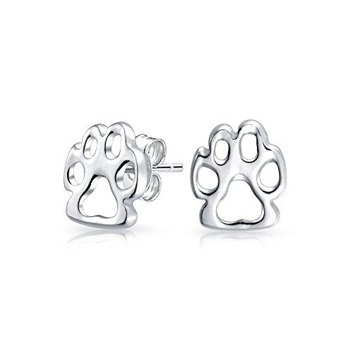 74e4ad69161 Bling Jewelry Sterling Silver Fox Paw Print Animal Stud - Import It All