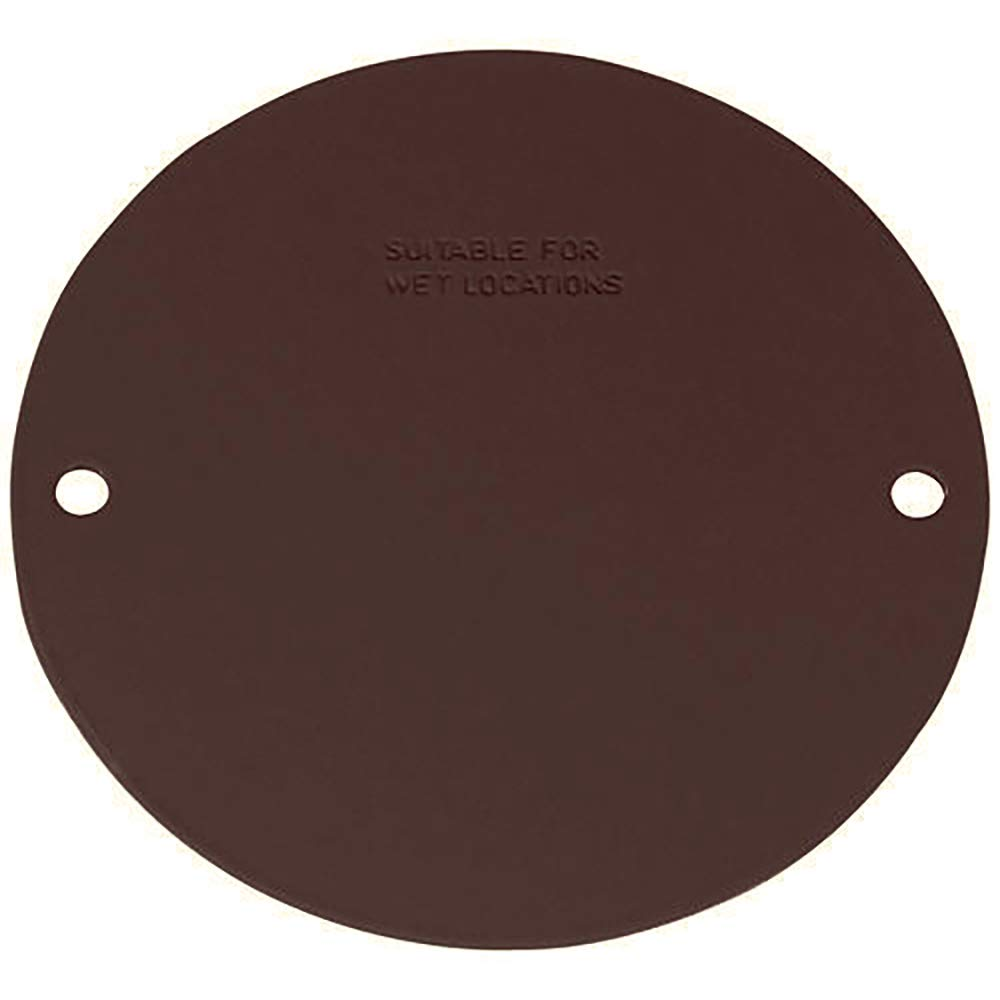 Bronze Sigma Electric 14241BR Round Blank Stamped Cover