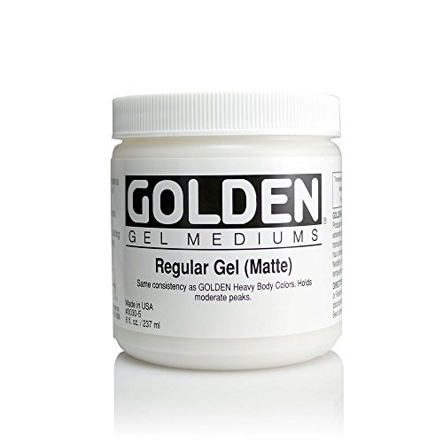 Golden Regular Matte Gel Medium-8 ounce