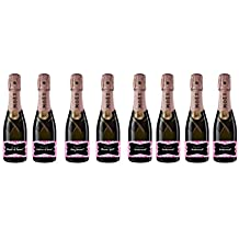 8 pack Labels for Mini Champagne Bottle & Gift Box - Bridesmaid, Maid & Matron of Honor Proposal Gift- Engagement Party- Bridal Shower- Flower Girl - Ring bearer, Will You Be My bridesmaid.