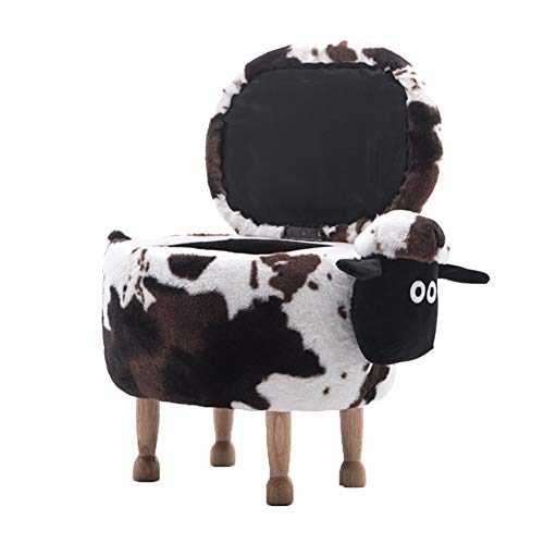 HOME LIFES Sean Sheep Shoe Bench Children's Stool Low Stool Animal Stool Storage and Removable, Size: 63x36x42cm (Color : Variegated, Size : B-63x36x42cm)