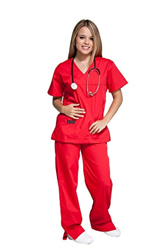 Melrose Crossover Scrub Top with Half-Elastic