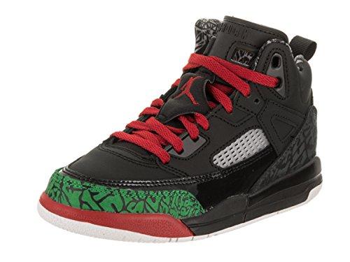 Jordan Nike Kids Spizike BP Black/Varsity Red Basketball Shoe 3 Kids US - Kid Jordans Fusion