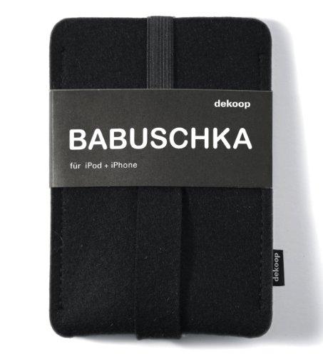 Babushka Custodia Custodia in feltro per iPod, iPhone, pura lana di feltro, Nero, dekoop