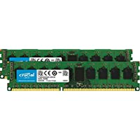 Crucial 16GB Kit (8GBx2) DDR3L 1600 MT/s (PC3-12800) DR x8 EUDIMM 240-Pin Memory - CT2KIT102472BD160B