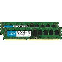 Crucial 16GB Kit (8GBx2) DDR3L 1600 MT/s (PC3-12800) DR x8 EUDIMM 240-Pin Memory - CT2KIT102472BD160B