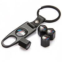 CzlpV Black Car Wheel Tire Valve Caps M Logo Tyre Stem Air Caps Keychain Styling For BMW by CzlpV