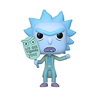 Funko Pop! Animation: Rick and Morty - Holgram Rick Clone Vinyl Figure, Glow in The Dark, Amazon Exclusive