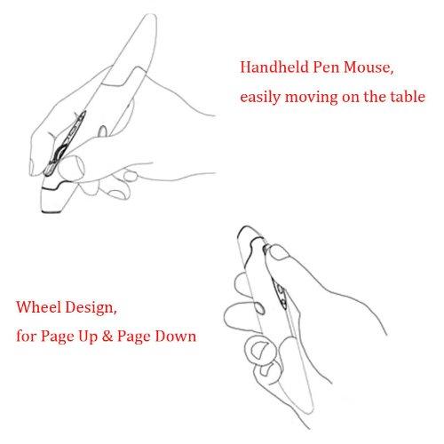 Docooler 2.4GHz Wireless Optical Pen Mouse Adjustable 500/1000DPI Handwriting Smart Mouse for PC Laptop iMac Android Tablet Black by Docooler (Image #4)
