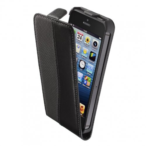 Artwizz 9687-SJLF-PL-P5-NL SeeJacket Flip Plus Esteem Case für Apple iPhone 5 schwarz