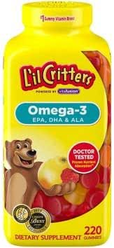 L'il Critters Omega-3 Gummy Fish for Children - 180 ct. x2 AS