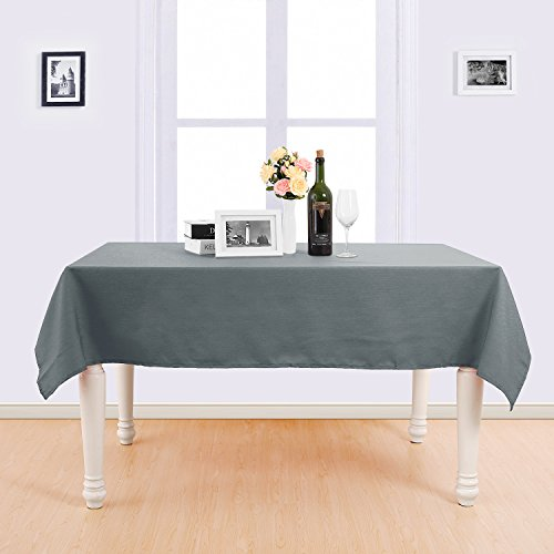 Deconovo Decorative Solid Color Water Resistant Tablecloth Oxford Table Cover Rectangle Tablecloth for Picnic Tables 54x72 Inch - Rectangle Solid