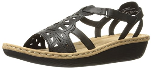 Cliffs by White Mountain Womens Chambray Wedge Sandal