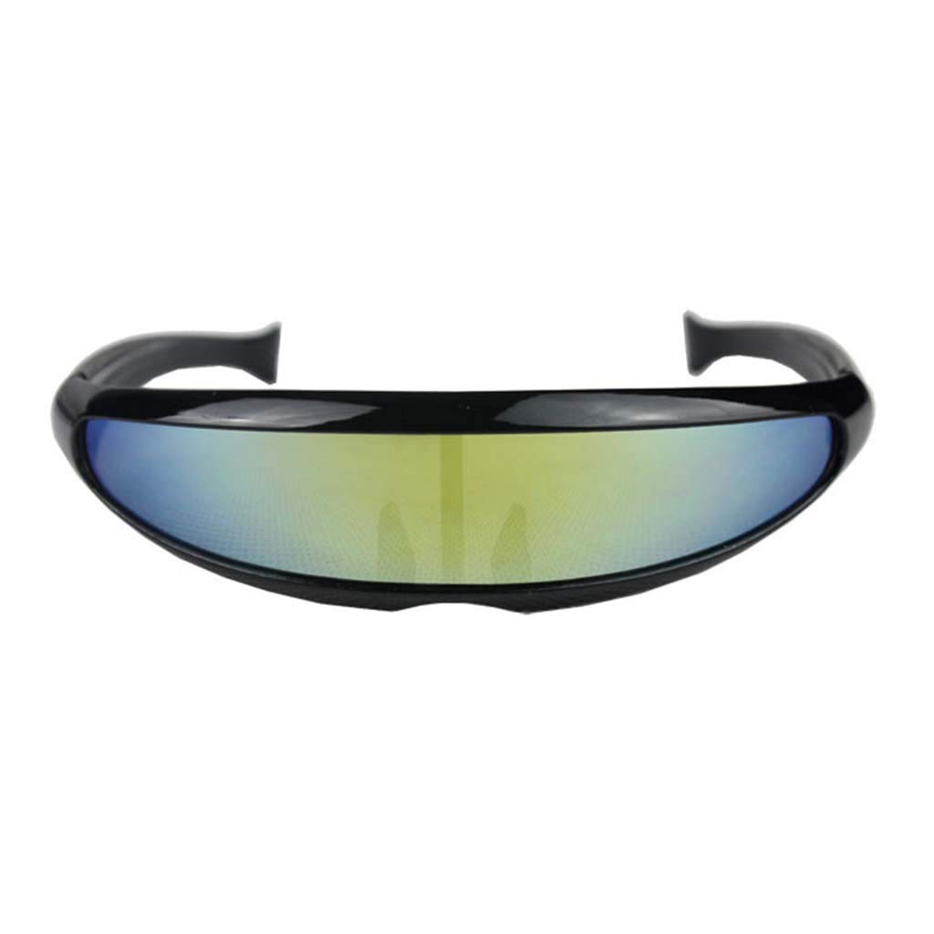 KCPer Sunglasses for Women Man Outdoor Fishtail Uni-Lens Riding Sports Cycling Glasses (A)