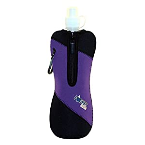 Zees Inc Pocket Bottles Water Bottle Jacket, Purple/Black