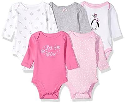 Hudson Baby Baby Infant Long Sleeve Bodysuit 5 Pack
