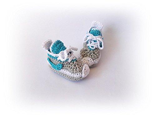 Crochet baby sneakers Baby Converse Baby boy girl sneakers Newborn sneakers -