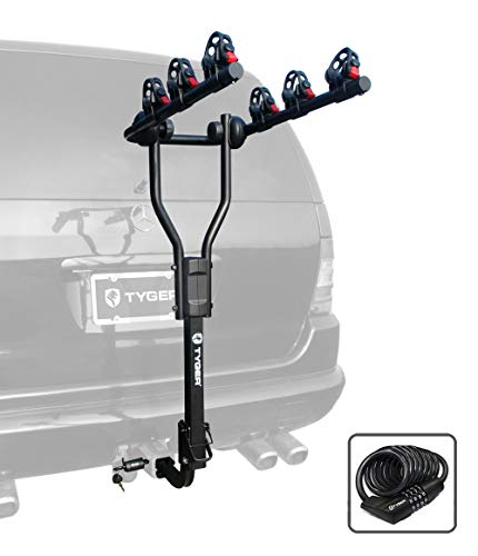 - Tyger Auto TG-RK3B101S 3-Bike Hitch Mount Bicycle Carrier Rack | Free Hitch Lock & Cable Lock | Fits Both 1.25