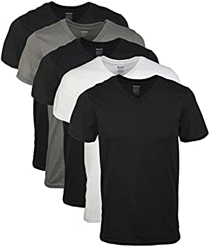 5-Pack Gildan Men's Short Sleeve V-Neck T-Shirt (Assorted Color)